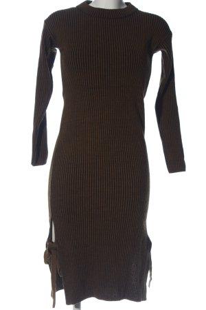 Topshop Pulloverkleid braun-schwarz Streifenmuster Casual-Look