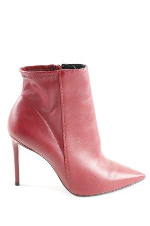 Topshop Reißverschluss-Stiefeletten rot Casual-Look