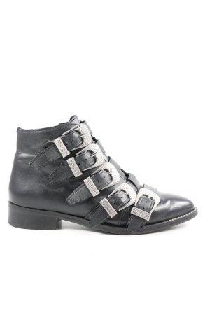 Topshop Reißverschluss-Stiefeletten schwarz Casual-Look