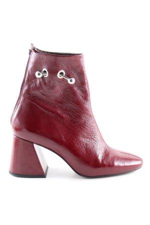 Topshop Reißverschluss-Stiefeletten rot Business-Look