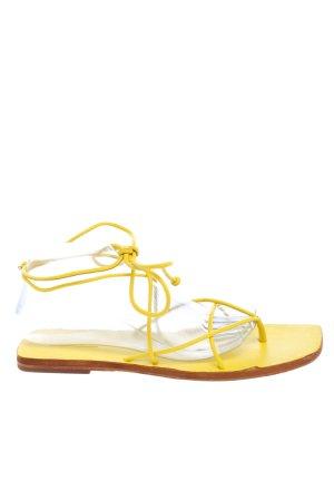 Topshop Riemchen-Sandalen blassgelb Casual-Look