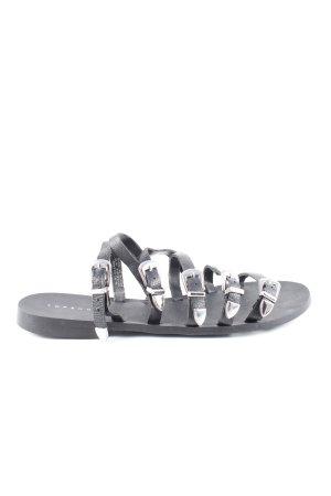 Topshop Riemchen-Sandalen schwarz Casual-Look