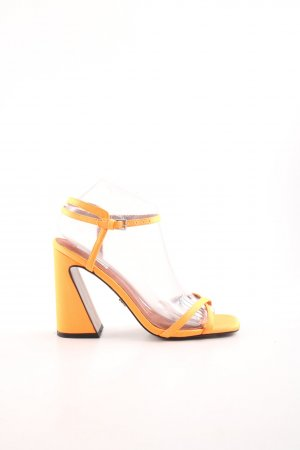 Topshop Riemchen-Sandaletten neonorange Party-Look
