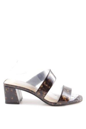 Topshop Riemchen-Sandaletten schwarzbraun-hellbraun Leomuster extravaganter Stil