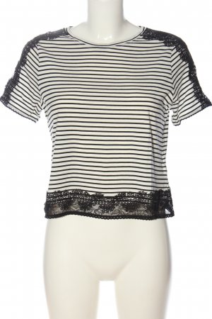 Topshop Stripe Shirt white-black striped pattern casual look