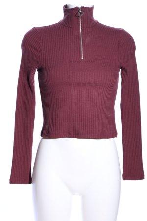 Topshop Rippshirt lila Casual-Look
