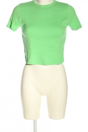 Topshop Rippshirt grün Casual-Look