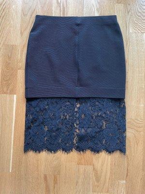 Topshop Falda de talle alto negro