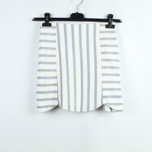 Topshop Minifalda blanco-gris pizarra tejido mezclado