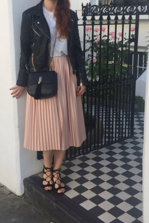 Topshop Falda plisada rosa