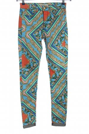 Topshop Drainpipe Trousers abstract pattern casual look