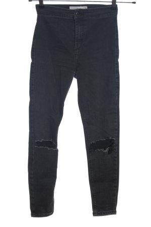 Topshop Jeans a sigaretta nero stile casual