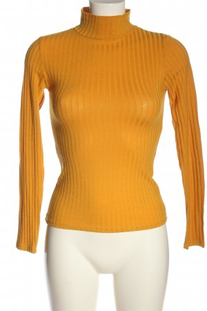 Topshop Turtleneck Shirt light orange casual look