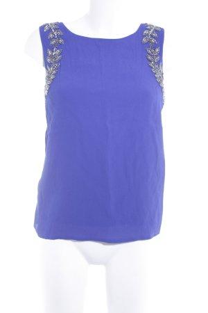 Topshop Rückenfreie Top blau-silberfarben Elegant