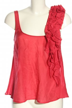 Topshop Top de volantes rojo look casual