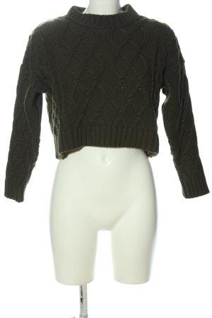 Topshop Crewneck Sweater khaki casual look