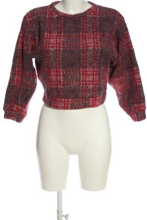 Topshop Maglione girocollo grigio chiaro-rosso stampa integrale elegante