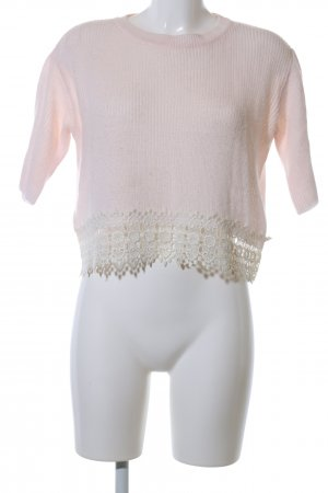Topshop Rundhalspullover pink Casual-Look
