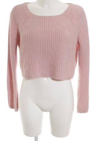 Topshop Rundhalspullover rosa Casual-Look