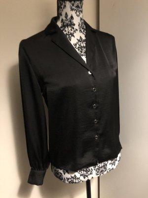 Topshop schicke schwarze Bluse glänzend 36 Small