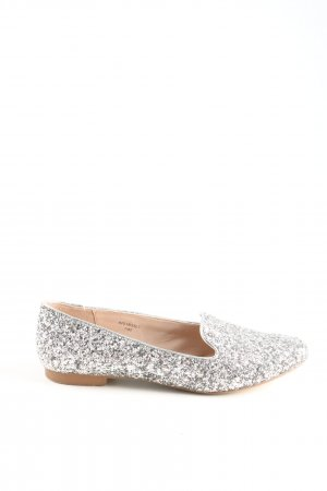 Topshop Slip-on Shoes silver-colored casual look