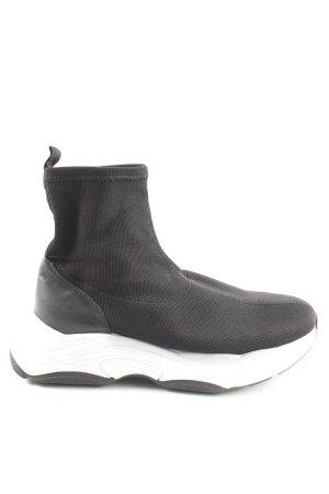 Topshop Zapatos sin cordones negro-blanco look casual