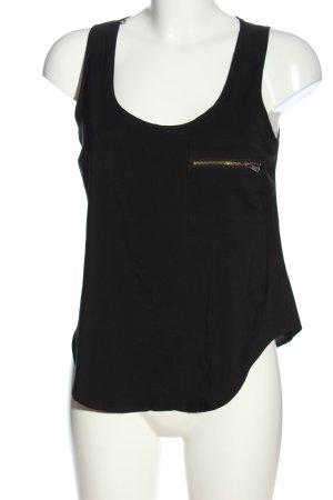 Topshop Schlupf-Bluse schwarz Casual-Look