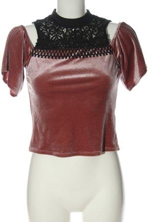 Topshop Schlupf-Bluse schwarz-braun extravaganter Stil