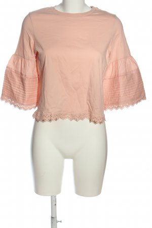 Topshop Schlupf-Bluse nude Zopfmuster Casual-Look