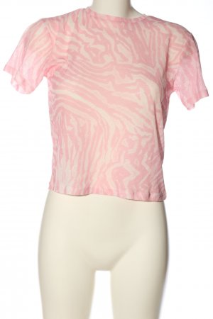 Topshop Schlupf-Bluse creme-pink abstraktes Muster Casual-Look
