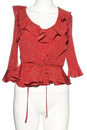Topshop Schlupf-Bluse rot-weiß Casual-Look