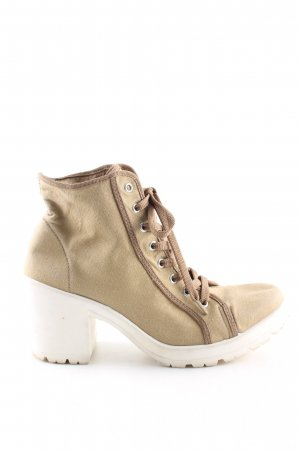 Topshop Lace-up Booties brown casual look