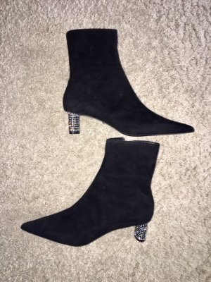Topshop Low boot noir cuir