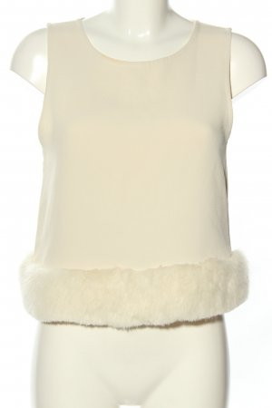 Topshop Cropped Top creme Casual-Look