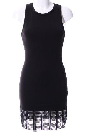 Topshop schulterfreies Kleid schwarz Elegant