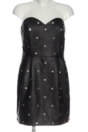 Topshop schulterfreies Kleid schwarz Casual-Look