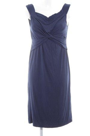 Topshop schulterfreies Kleid dunkelblau Casual-Look