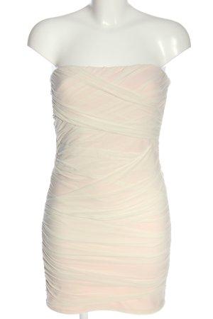 Topshop schulterfreies Kleid creme Elegant