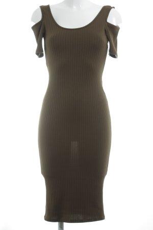Topshop schulterfreies Kleid olivgrün Casual-Look