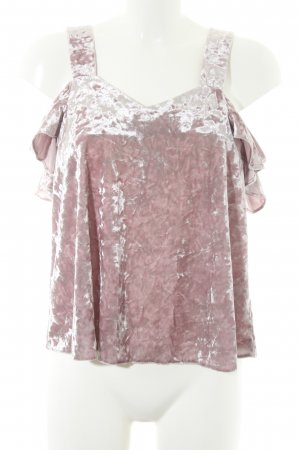 Topshop schulterfreies Top roségoldfarben Party-Look