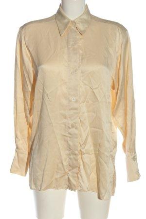 Topshop Blusa de seda crema elegante