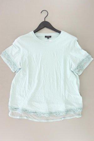 Topshop Shirt mit Spitze Größe 44 Kurzarm türkis