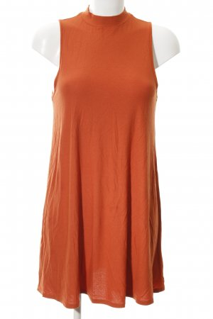 Topshop Shirtkleid dunkelorange Retro-Look