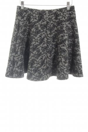 Topshop Skaterska spódnica jasnoszary-czarny Na całej powierzchni