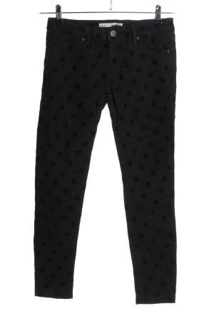 Topshop Skinny Jeans schwarz Punktemuster Casual-Look