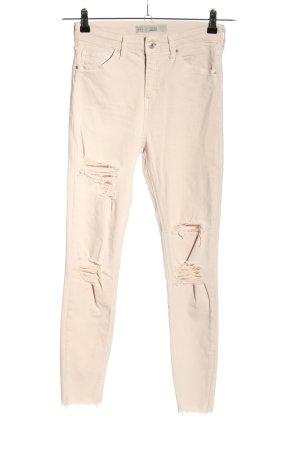 Topshop Skinny Jeans wollweiß Casual-Look
