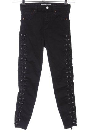 Topshop Jeans skinny noir style décontracté