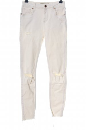 Topshop Skinny Jeans weiß Casual-Look