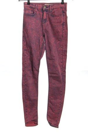 Topshop Skinny Jeans pink-blau Farbverlauf Casual-Look