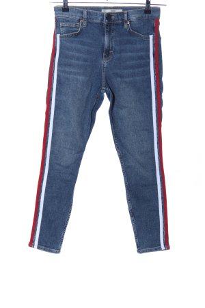 Topshop Jeans skinny bleu motif rayé style décontracté